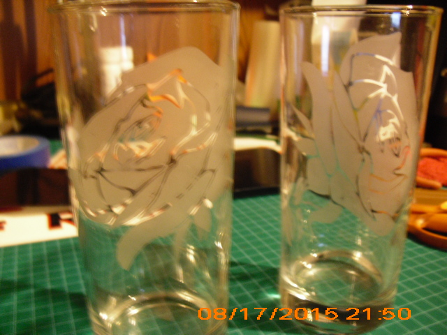 Glass 16oz With Rose